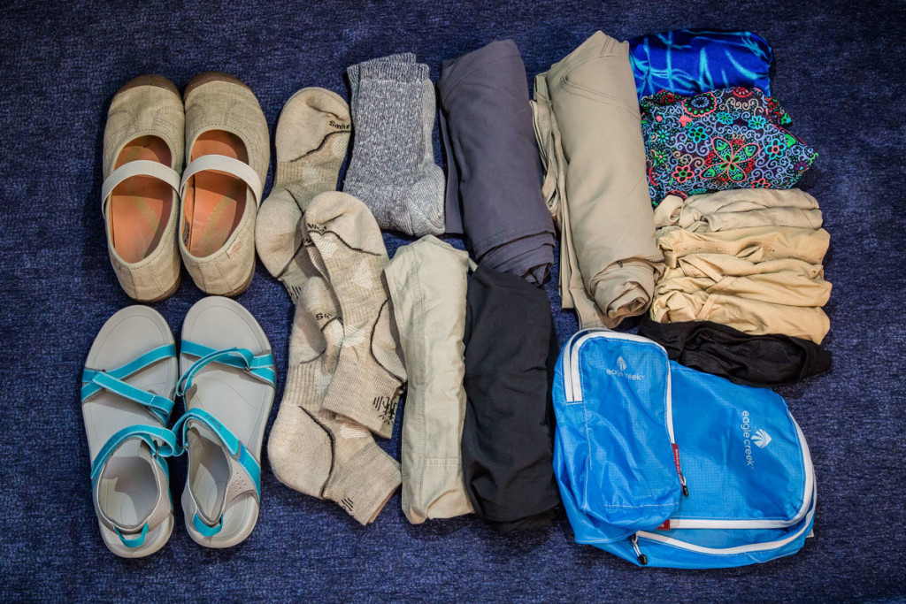 Her Clothing for Travel Around the World