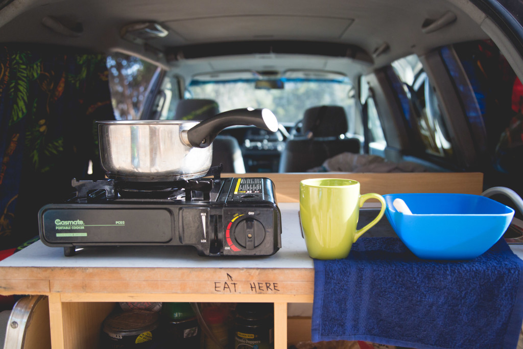 Campervan cook space