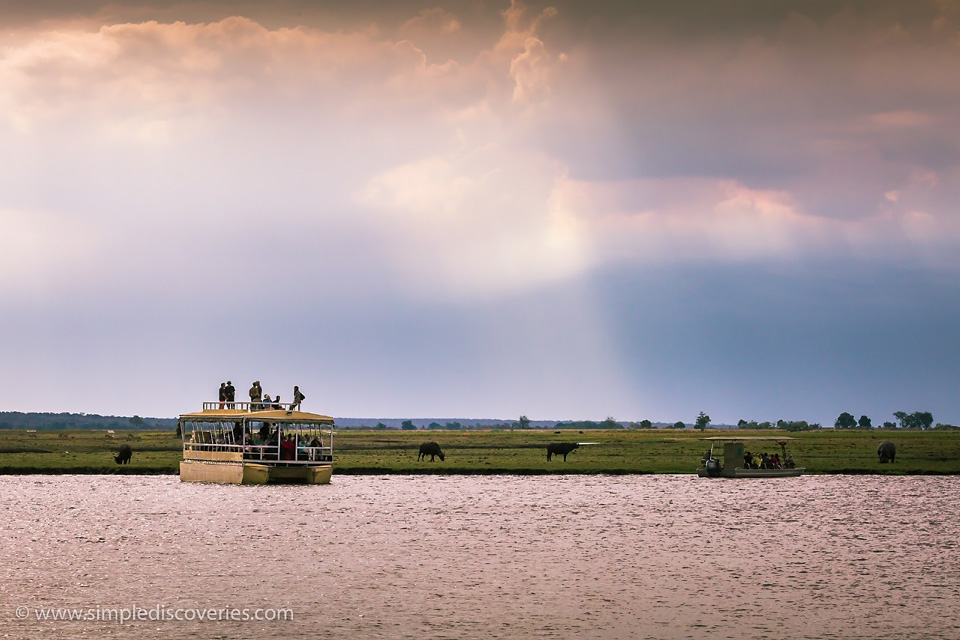 Boat on Chobe River